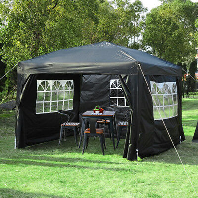 Heavy Duty Pop Up Gazebo 3 x 4.5 Garden Waterproof Garden Marquee Canopy Tent