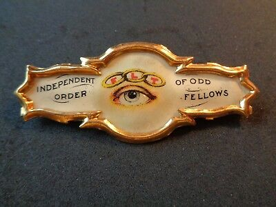 Antique Fraternal  Independent Order of Odd Fellows IOOF Badge Ribbon Holder