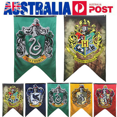 AU Harry Potter Collection House Banner Flag Wall Hanging Party Decoration Gift