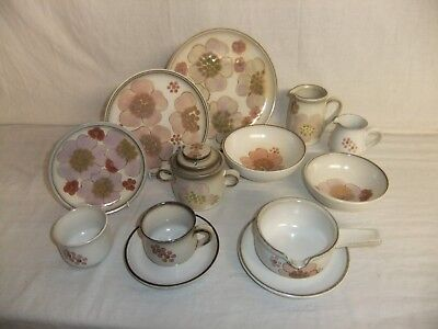 C4 Pottery Denby - Gypsy hand painted - plates, bowls, cups & saucers, jugs 4C1A