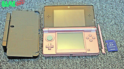 Nintendo 3Ds Pearl Pink Console Handheld System Ds Tested Working Very Rare!!