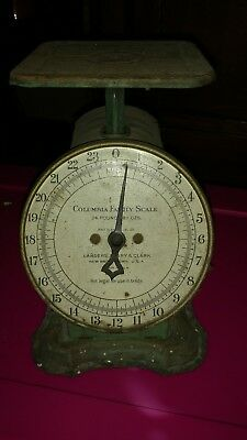 Vintage Antique Columbia Family Scale Landers Frary and Clark Patina