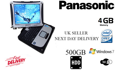 Panasonic Toughbook Cf19 Mk3 1.20Ghz 500Gb Touchscren Laptop - With Free Charger