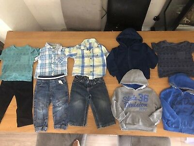 Boys Clothes Bundle, Jumpers,Hoodies, Shirts, Jeans,Trousers,Tshirts 18-24 Month