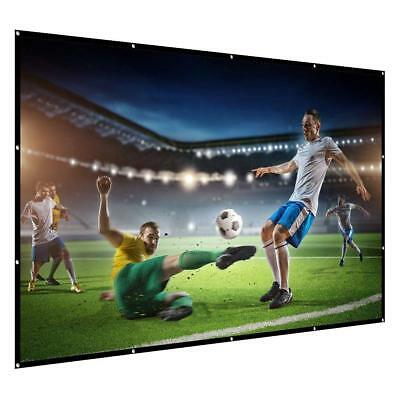 Projection Screen 120-inch Portable Projector Screen 16:9 4K Ultra HD Foldable