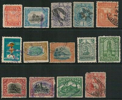 Lot 5020 - Guatemala used stamp selection of 14 stamps