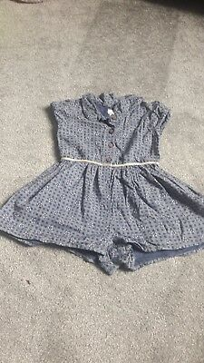 Girls Next Shorts Playsuit Age 12-18 months