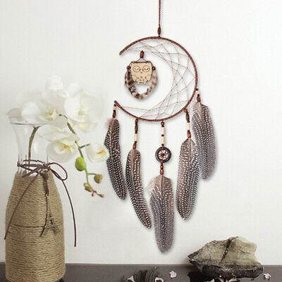 Handmade Dream Catcher With Feathers Car Wall Hanging Decor Ornament Gift New