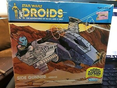 Star Wars Droids Side Gunner Vehicle Kenner 1985 Vintage Complete Beautiful