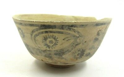 Authentic Ancient Indus Valley Terracotta Bowl W/ Deer Motif - L371