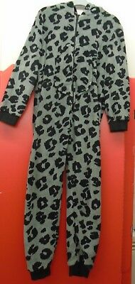 Kids age 11Yrs Animal  Print  Hooded Jumpsuit   Fleece  from Next