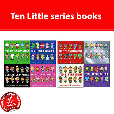 Ten Little Series books Set Superheroes, Pirates, Dinosaurs, Monsters, Princesse
