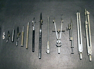 A Vintage Set of Stainless Steel Geometry/Math/Drafting Compasses. Pre-loved :)
