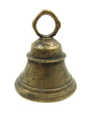 Authentic Late Medieval Era Bronze Bell Pendant - L382
