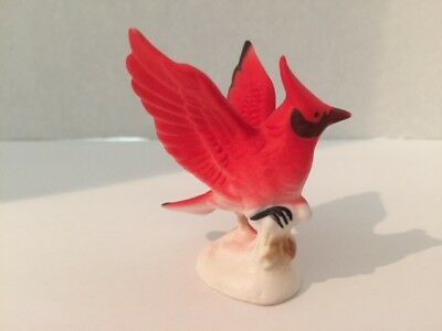 Cardinal Figurine, Bone China, Japan, small