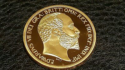 Collectable Commemorative Gold Plated King Edward Vii Memorabilia Gift Coin