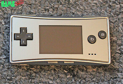 Nintendo Game Boy Micro Silver Console Gameboy Advance Handheld System Tested