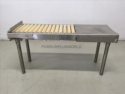 Roller Conveyor With Packing Table 48'' X 24'' X 15.75'' (Used and Tested)