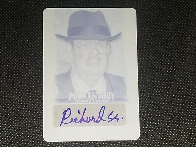 """Richard """"the Old Man"""" 2012 Leaf Pop Century Hand Signed Auto Printing Plate 1/1"""