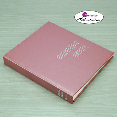 "Monesta Leather Slip-In Photo Album, Martello Pink (holds 120 photos 5""x7"")"