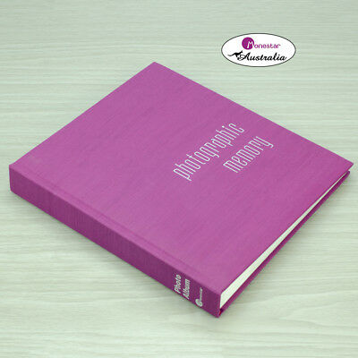 "Monesta Leather Slip-In Photo Album, Kashmir Purple (holds 120 photos 5""x7"")"
