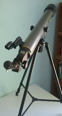 GALILEO REFRACTOR TELESCOPE Model CC-2 700 X 60mm with Tripod and Case