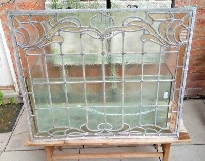 Stained coloured glass leaded window panel - DELIVERY POSS