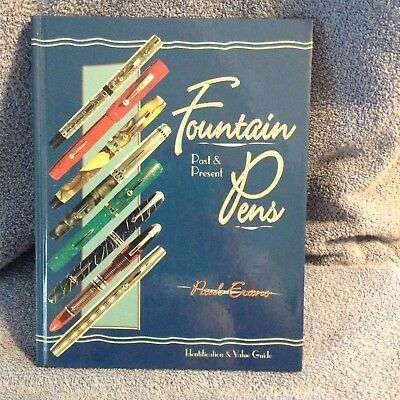Vintage Book FOUNTAIN PENS value Price Guide Advertising Illus FREE SHIP
