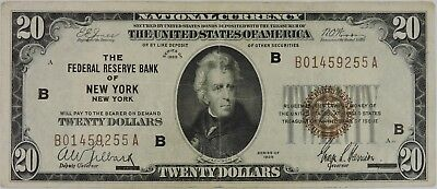 Series of 1929 The Federal Reserve Bank of New York $20 Note
