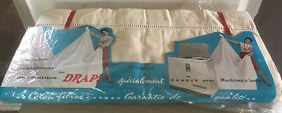 A Matching Pair Of Unused Vintage French Cotton/linen Sheets Some Orig Packaging