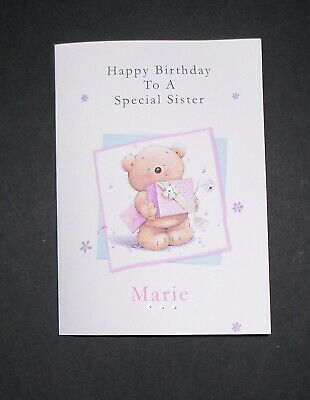 Handmade Personalised Boys Christening Card Any Name And Date