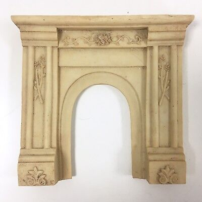 Dolls House Miniature Fireplace Fire Place Mantel Stone Marble Style Doll
