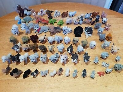 87 Puppy In My Pocket Flock Covered Dogs Cats & Other animals horses, turtles.