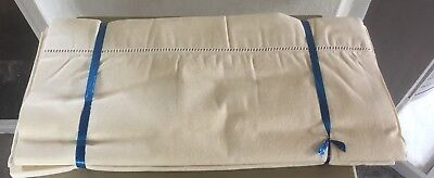 A Matching Pair Of Unused Vintage French Cotton/linen Sheets