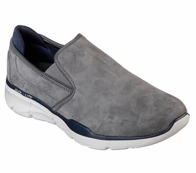 Skechers Equalizer 3.0-Substic Mens Charcoal Slip On Casual Trainers Shoes