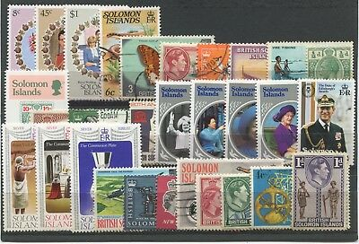 "SOLOMON ISLANDS  -  30  Stamps  ""  ALL  DIFFERENT  "" ."