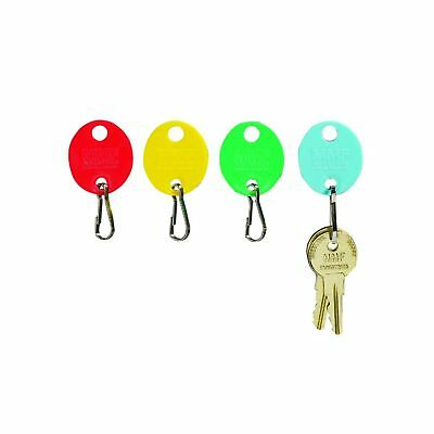 MMF Industries Snap-Hook Key Tags, Plastic, 1.25 Inches Height, Blue/Green/Re...