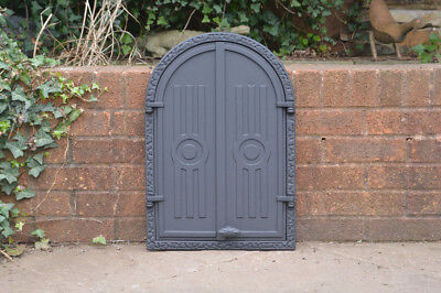 58.5 x 39.3 cm cast iron fire door clay bread oven doors pizza stove fireplace