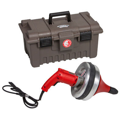 Spartan Tool 700 Handheld Pipe Drain Cleaning Drill Machine with Carrying Case