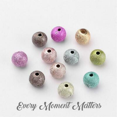 50 x STARDUST ACRYLIC BUBBLEGUM BEADS MIXED COLOURS 8mm