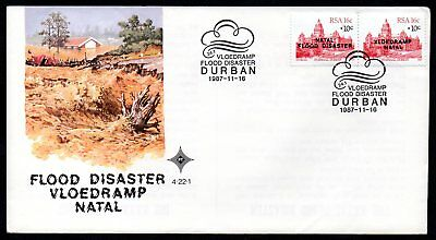 South Africa - 1987 Natal Flood Disaster Overprint Cover