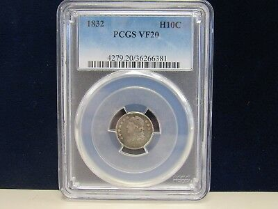 1832 Pcgs Vf-20 Half Dime Capped Bust (12232-Dime-Mss)