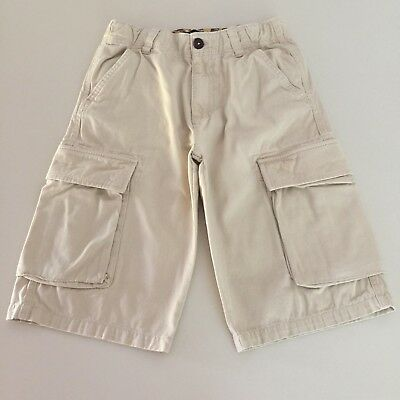 Mini Boden Awesome Boys Beige Cargo Shorts. Adjustable waist, 11 years GREAT!!