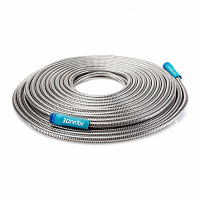 Sun Joe Heavy-Duty Spiral Constructed Stainless Steel Garden Hose | 75 Ft