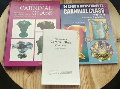 Encyclopedia & NORTHWOOD CARNIVAL GLASS PRICE GUIDE COLLECTOR BOOK Lot of 3