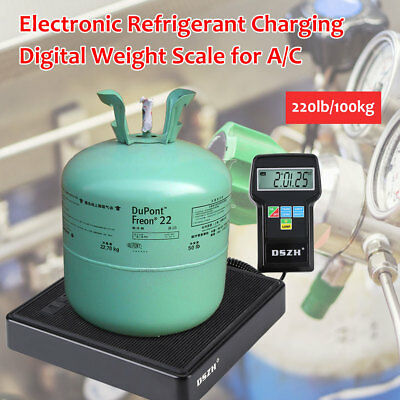 220lbs Digital Electronic HVAC AC Refrigerant Charging Weight Scale UK