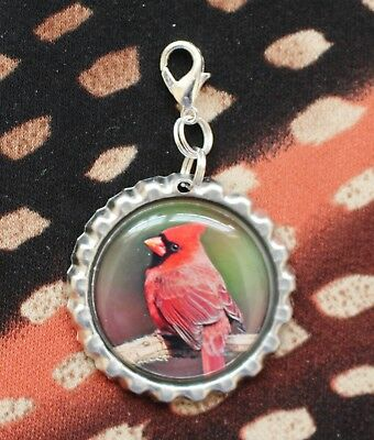 Cardinal Bird Lanyard Backpack Purse Charm Zipper Pull #21