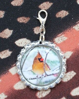 Cardinal Bird Lanyard Backpack Purse Charm Zipper Pull #20