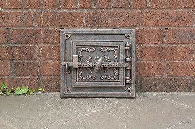 32.5 x 29.8 cm cast iron fire door clay / bread oven doors pizza stove fireplace