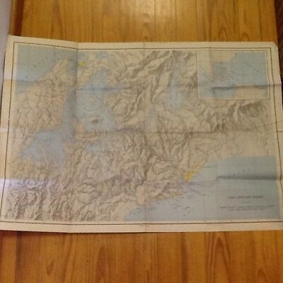 "1947 PANAMA CANAL ZONE Topographical Map Army Corps of Engineers 40"" x 28"""